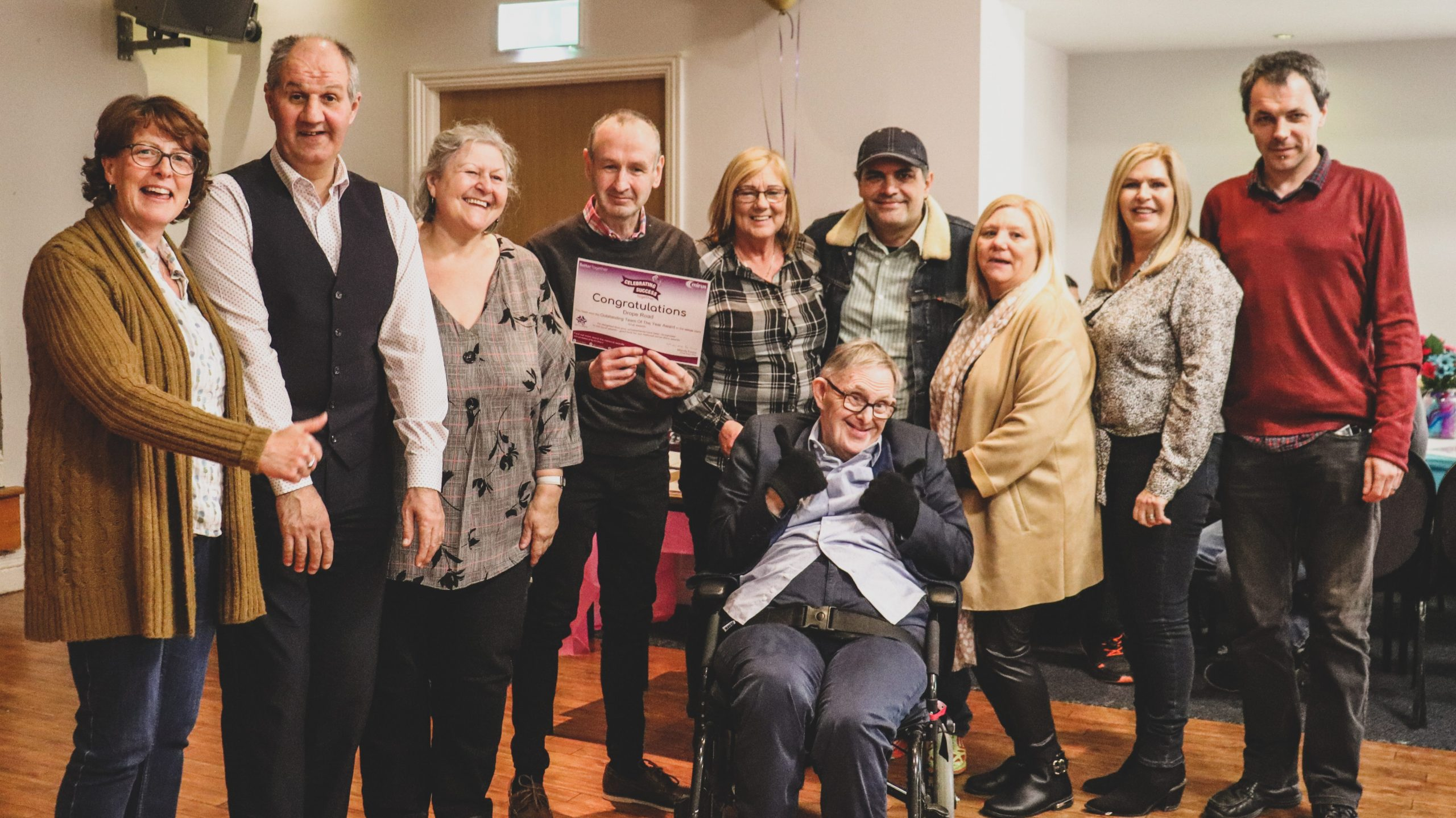 Cardiff staff and people supported celebrate success at one of our events